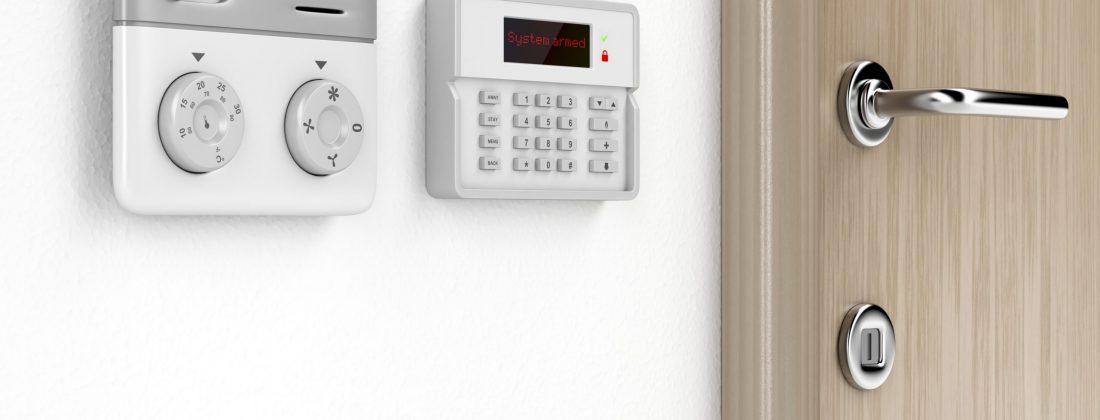 Room temperature and alarm control panels